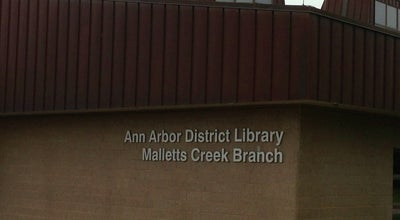 Photo of Library Ann Arbor District Library: Mallets Creek Branch at 3090 E Eisenhower Pkwy, Ann Arbor, MI 48108, United States