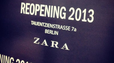 Photo of Clothing Store Zara at Tauentzienstr. 7 A, Berlin 10789, Germany