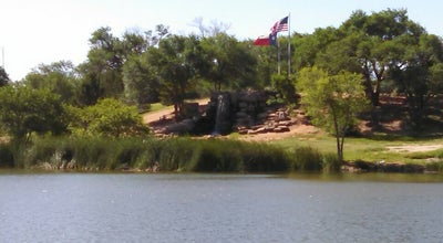 Photo of Lake Waterfall/Footprints Of History At Dunbar Historical Lake at 1700 Canyon Lake Dr., Lubbock, TX 79404, United States