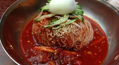 Photo of Ramen / Noodle House 함경면옥 at 강동구 강동대로 215, 서울시, South Korea