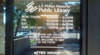 Photo of Library L.E. Phillips Memorial Public Library at 400 Eau Claire St, Eau Claire, WI 54701, United States