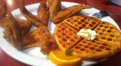 Photo of Southern / Soul Food Restaurant Gladys Knight's Signature Chicken & Waffles at 529 Peachtree St Ne, Atlanta, GA 30308, United States