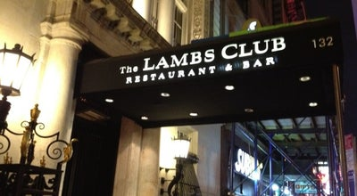 Photo of American Restaurant The Lambs Club at 132 W 44th St, New York, NY 10036, United States