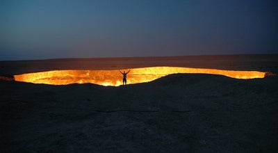 Photo of Volcano Derweze | Door to Hell | Врата ада at Karakum Desert, Darvaza, Turkmenistan