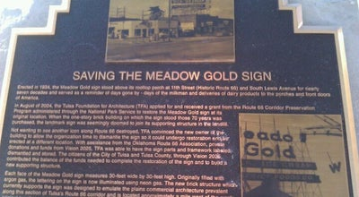 Photo of Historic Site Meadow Gold Sign at E 11th And S Peoria, Tulsa, OK 74120, United States