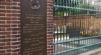 Photo of Historic Site Benjamin Franklin's Grave at Arch St, Philadelphia, PA 19106, United States