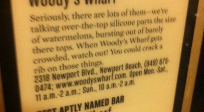 Photo of Seafood Restaurant Woody's Wharf at 2318 Newport Blvd, Newport Beach, CA 92663, United States