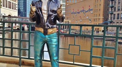 Photo of Sculpture Garden Bronze Fonz at N Riverwalk Way, Milwaukee, WI 53202, United States