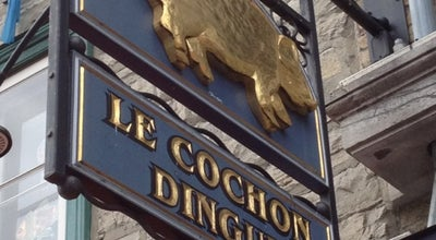 Photo of French Restaurant Le Cochon Dingue at 46 Rue Champlain, Québec, QC G1K 4H7, Canada