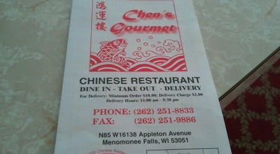 Photo of Chinese Restaurant Chen's Gourmet Chinese Restaurant at N85w16138 Appleton Ave, Menomonee Falls, WI 53051, United States