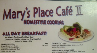 Photo of Breakfast Spot Mary's Place Cafe II at 5982 Spring Garden Rd, Halifax, NS, Canada