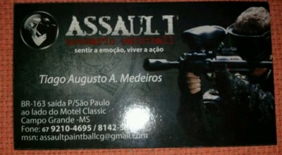 Photo of Paintball Field Assault Paintball at Av. Gury Marques, 7034, Campo Grande 79062-200, Brazil