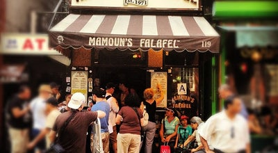 Photo of Falafel Restaurant Mamoun's Restaurant at 119 Macdougal St, New York, NY 10012, United States