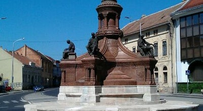 Photo of Monument / Landmark Zsolnay-szobor at Rákóczi Út, Pécs, Hungary