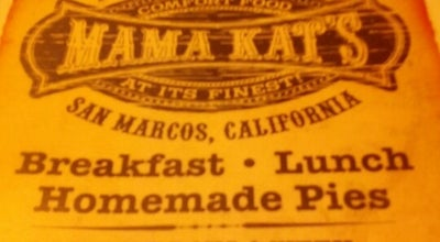 Photo of American Restaurant Mama Kat's at 950 W San Marcos Blvd, San Marcos, CA 92078, United States