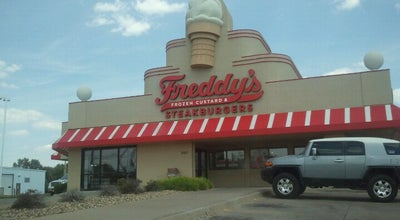 Photo of Ice Cream Shop Freddy's Frozen Custard & Steakburgers at 1050 Sw Wanamaker Rd, Topeka, KS 66604, United States