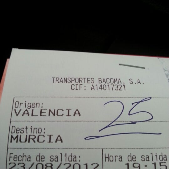 Photo taken at Estación de Autobuses de Valencia by Consuelo P. on 8/22/2012
