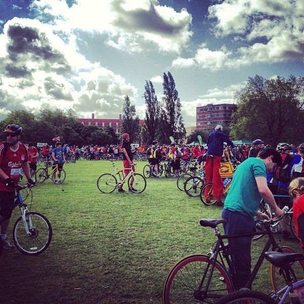 Photo taken at Clapham Common by Jon B. on 6/17/2012