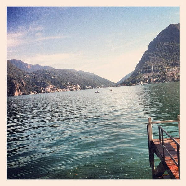 Photo taken at Lago di Lugano by Marco D. on 8/29/2012