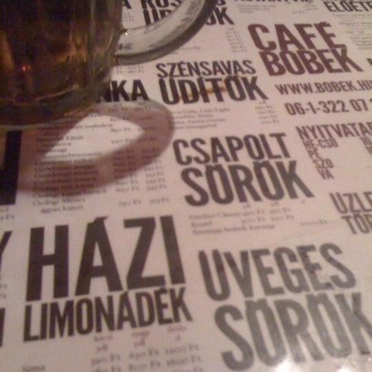 Photo taken at Bobek Cafe by Kristóf K. on 1/13/2011