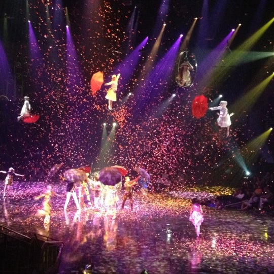 Photo taken at The Beatles LOVE (Cirque Du Soleil) by Debra D. on 9/15/2012