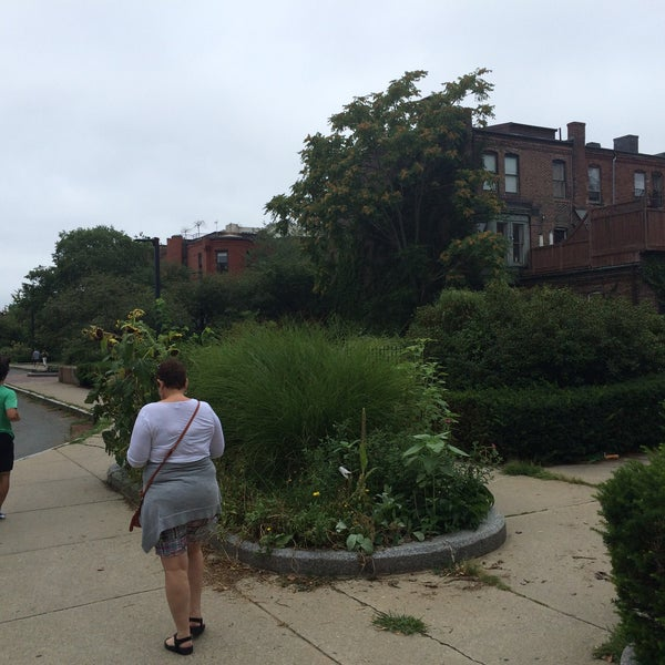 Photo taken at SW Corridor Park - Back Bay by Bill D. on 8/23/2015