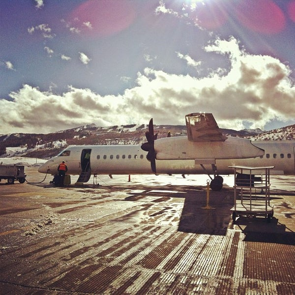 Photo taken at Aspen/Pitkin County Airport (ASE) by Erica R. on 1/27/2012