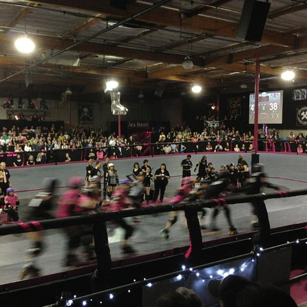 Photo taken at Doll Factory (L.A. Derby Dolls) by Emma S. on 5/19/2013