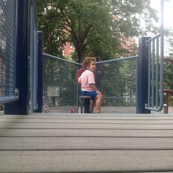 Photo taken at Central Park - Mariners' Gate Playground by Marty F. on 6/8/2013
