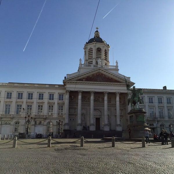 Photo taken at Paleizenplein / Place des Palais by Scott J. on 11/1/2014