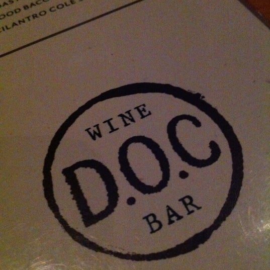 Photo taken at D.O.C. Wine Bar by Justin C. on 3/22/2013