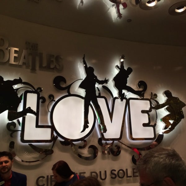 Photo taken at The Beatles LOVE (Cirque Du Soleil) by Sendil K. on 3/28/2014