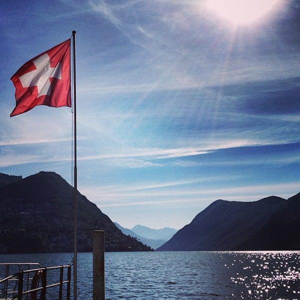 Photo taken at Lago di Lugano by Nabil D. on 6/12/2013