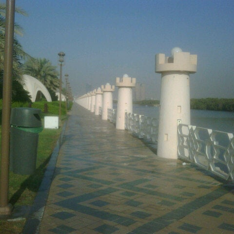 Photo taken at Eastern Mangroves Corniche by Seham Y. on 10/20/2012
