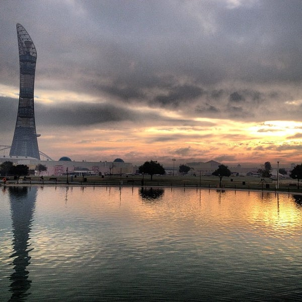 Photo taken at Aspire Park | حديقة اسباير by mohammed l. on 2/8/2013