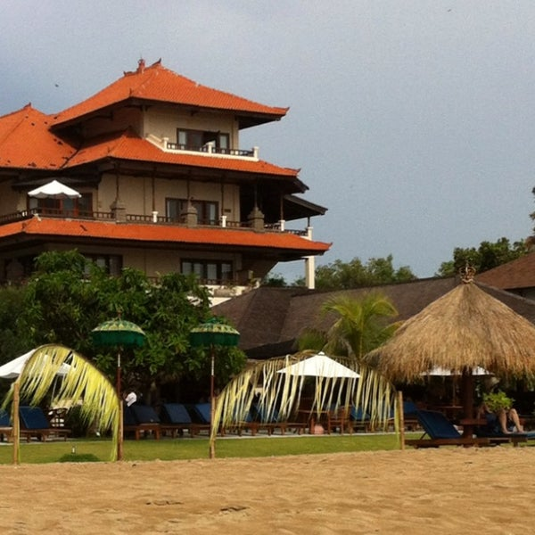 Photo taken at Grand Aston Bali Beach Resort by Ingrid B. on 1/26/2013