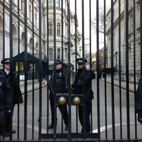 Photo taken at 10 Downing St. by mintense on 2/4/2013