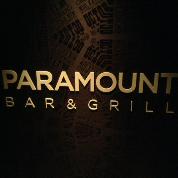 Photo taken at Paramount Bar and Grill by Bruno G. on 3/19/2013