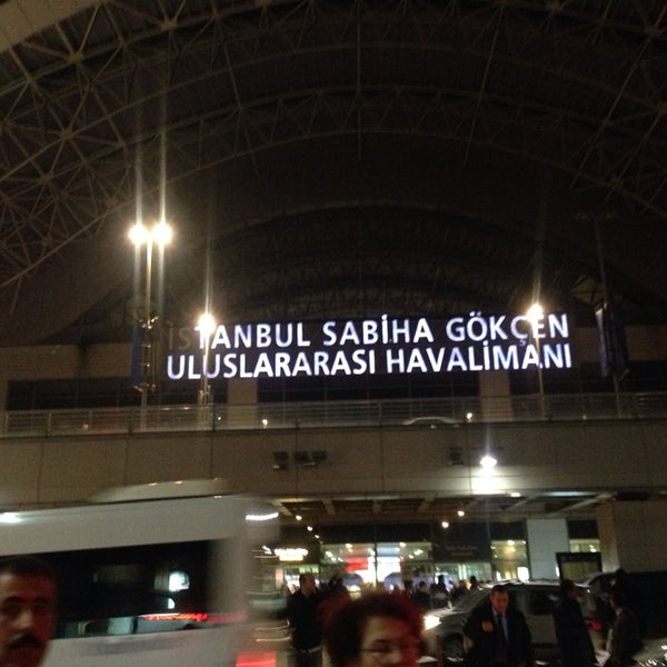 Photo taken at Sabiha Gökçen International Airport (SAW) by Berkay C. on 3/17/2014