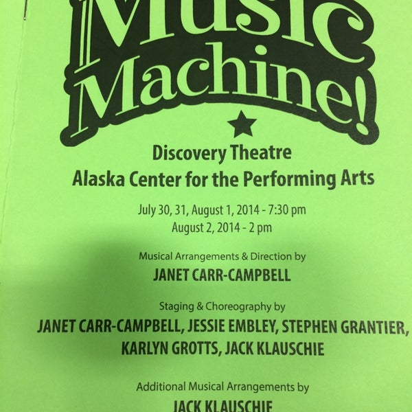 Photo taken at Alaska Center for the Performing Arts by Julie F. on 8/2/2014