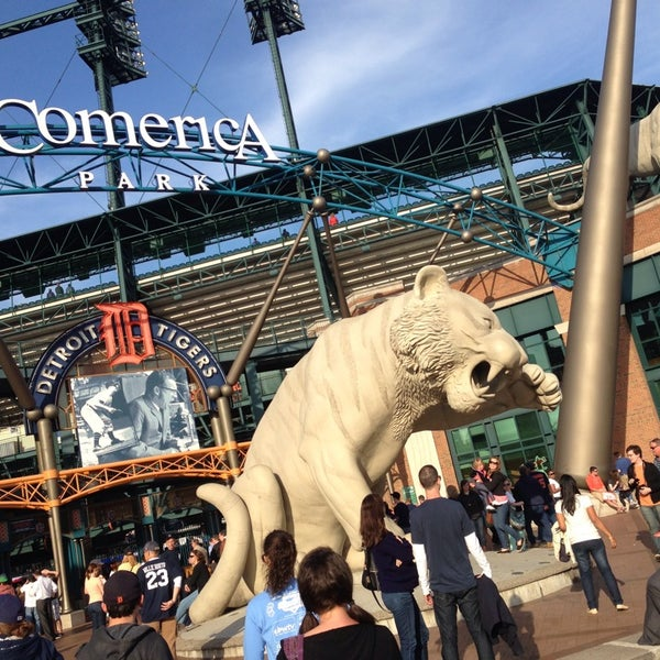 Photo taken at Comerica Park by Chelsea H. on 6/4/2013