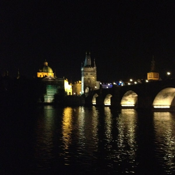 Photo taken at Charles Bridge by Murat A. on 7/12/2013