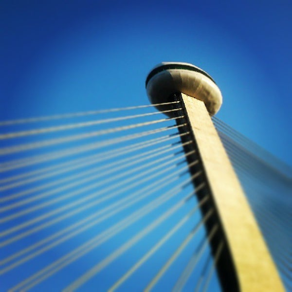 Photo taken at Ponte Estaiada by Alesson N. on 7/22/2013
