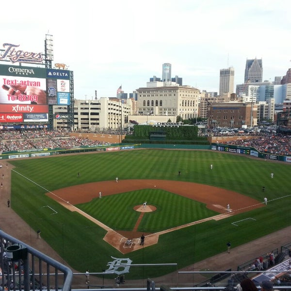 Photo taken at Comerica Park by Jake S. on 7/26/2013
