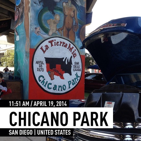 Photo taken at Chicano Park by Edward M. O. on 4/19/2014