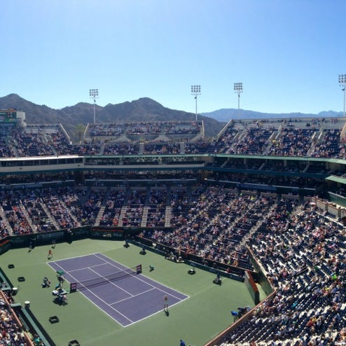 Photo taken at Indian Wells Tennis Garden by Matthew on 3/16/2013