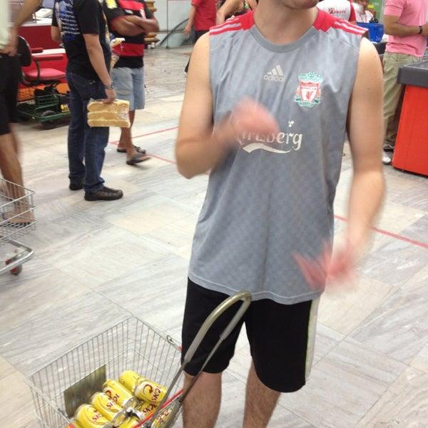 Photo taken at Supermercados Nazaré by Coelho G. on 8/3/2013