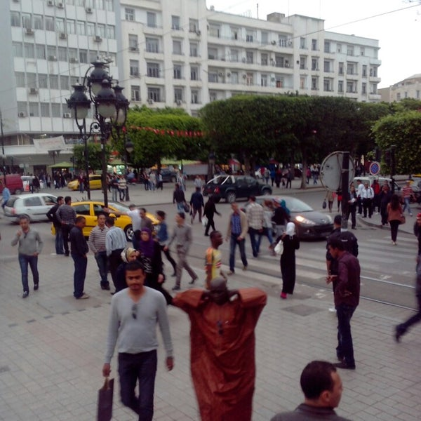 Photo taken at Avenue Habib Bourguiba by Inès B. on 5/16/2013