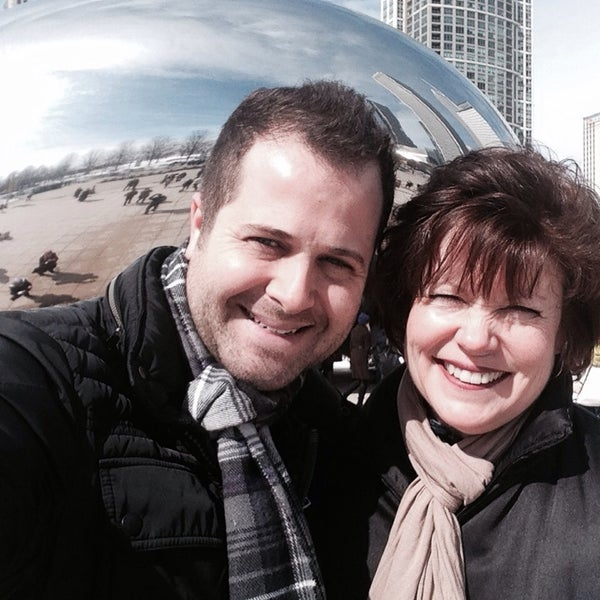 Photo taken at Cloud Gate by Sean V. on 3/9/2014