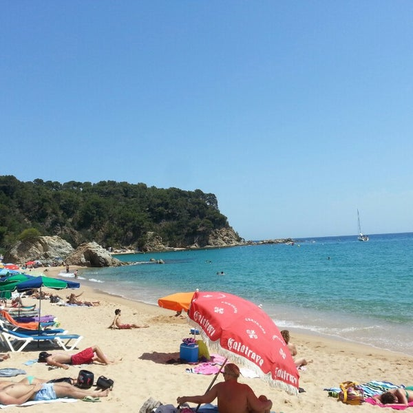 Photo taken at Cala Canyelles by Florin A. on 6/21/2014